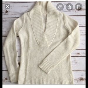 J.Crew Factory V-Neck Sweater in Tan.